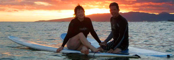 Ty Gurney Surf School Book Online Romantic Sunset Surf Package